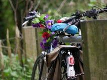 Flower power-Fahrrad Stockfoto