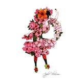 Flower-power-folket Arkivfoto
