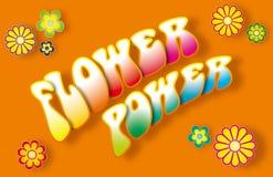 Flower power-het Van letters voorzien Royalty-vrije Stock Foto's