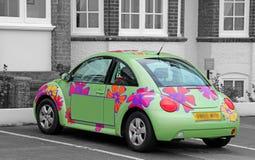 Flower power hipisa samochód zdjęcia royalty free