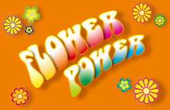 Flower Power Lettering Royalty Free Stock Photos
