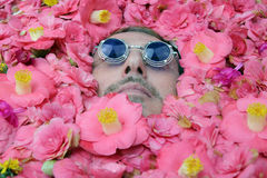 Flower power man Royalty Free Stock Image