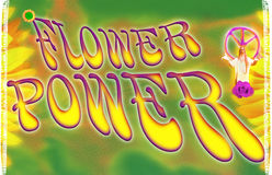 Flower Power. Mood of the flower power movement in the 70 Stock Photography
