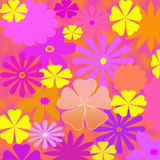 Flower Power Pastels Design Stock Photo