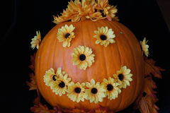 Flower Power Pumpkin Royalty Free Stock Image