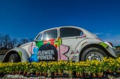 Flower power samochód Obraz Royalty Free
