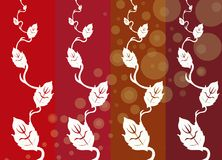 Flower power series 01. Interesting illustration design suitable for backgrounds and cards, in warm color scheme stock illustration