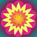 Flower power y sol 2 Foto de archivo