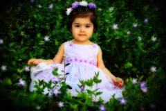Flower princess Stock Images