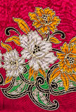 Flower print fabric Royalty Free Stock Photography