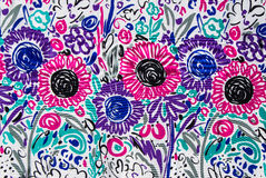 Flower print fabric Royalty Free Stock Photos