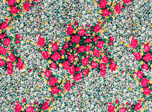 Flower print fabric Royalty Free Stock Image