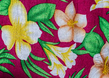 Flower print fabric Stock Photography