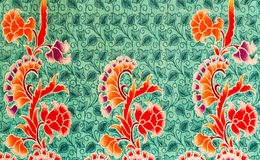 Flower print fabric Stock Photo