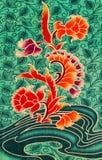 Flower print fabric Royalty Free Stock Photo