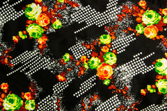 Flower print fabric Stock Images