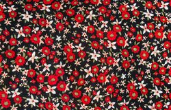 Flower print fabric Royalty Free Stock Photo