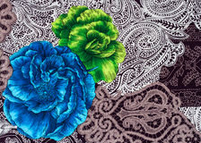 Flower print fabric Royalty Free Stock Photos
