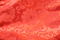 Flower print silk Royalty Free Stock Image