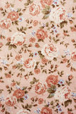 Flower printed clothes. The classic victoria style pink flower printed clothes Royalty Free Stock Photography