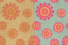Flower printed on hessian Royalty Free Stock Photos