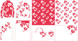 Flower purple pattern paper bag Royalty Free Stock Photos