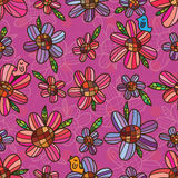 Flower purple pink symmetry seamless pattern Royalty Free Stock Photography