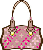 Flower Purse. Illustration clip-art eps Stock Images