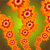 Flower Queue Royalty Free Stock Images