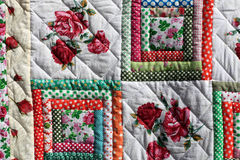 Flower quilt Stock Photos
