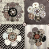 Flower quilting design Stock Photo