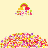 Flower rainbow background. Vector illustration. Stock Image