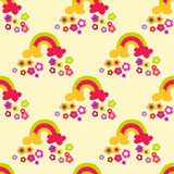 Flower rainbow seamless pattern Stock Photography