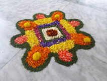 Flower Rangoli Stock Photo