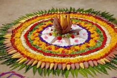 Flower Rangoli design , indian rangoli royalty free stock photography