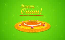 Flower Rangoli for Onam Royalty Free Stock Photo