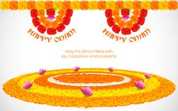 Flower Rangoli for Onam Royalty Free Stock Images