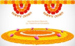 Flower Rangoli for Onam Royalty Free Stock Images