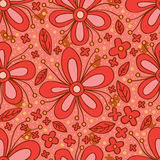 Flower red color seamless pattern Stock Photo