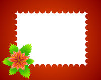 Flower red frame Royalty Free Stock Photos