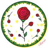 Flower_red steg Royaltyfria Bilder