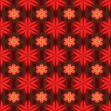 Flower red style symmetry seamless pattern Royalty Free Stock Image