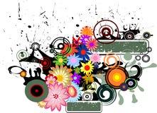 flower retro απεικόνιση αποθεμάτων