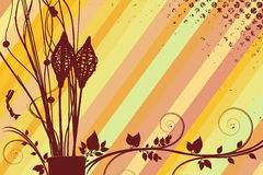 Flower retro background Royalty Free Stock Images
