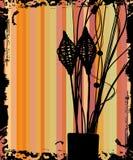 Flower retro grunge background Stock Image