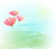 Flower retro grunge background Stock Photo