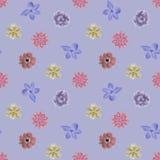 Flower retro pattern seamless vector Stock Photos