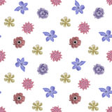 Flower retro pattern seamless vector Royalty Free Stock Photography