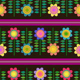 Flower retro seamless pattern Stock Photography
