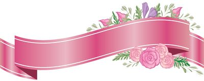 Flower Ribbon Banner Royalty Free Stock Photos